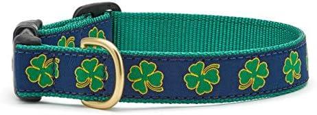 Up Country Navy Shamrock Pattern Dog Collars and Leashes Navy Shamrock Pattern Dog Collar Medium product image