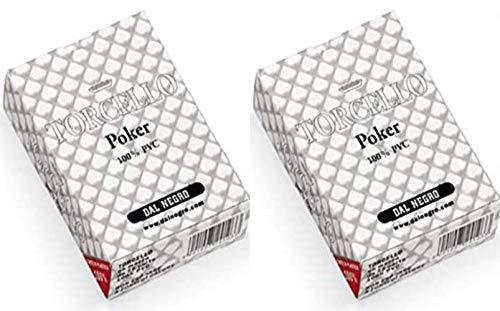 Dal Negro Torcello - Juego de cartas de póquer, color blanco, 2 unidades
