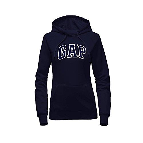 Gap Damen Pullover Fleece Logo Hoodie - Mehrfarbig - X-Klein