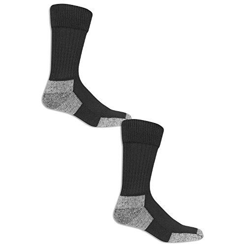 Dr. Scholl's Men's Big and Tall Diabetic and Circulatory Work 2 Pack Crew Sock, Black, 13-15