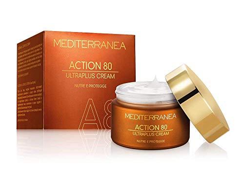 Mediterranea - Action 80 Ultraplus Cream - Crema Viso Antirughe Giorno e Notte per Pelli Mature - Azione Idratante, Nutriente e Protettiva - 50 ml
