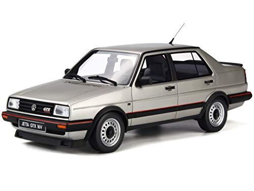 Otto VW Jetta II GTX 16V 1987 Diamant Silber met Modellauto OT742 1:18