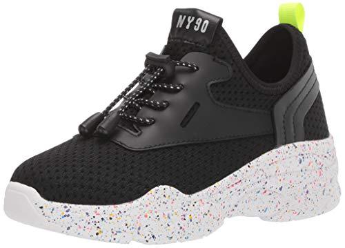 Steve Madden Girl's JMYLESS Sneaker, Black, 2 M US Little Kid
