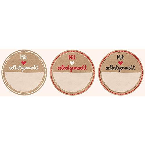 AVERY Zweckform Etiketten Marmelade 50 Stück Art. 56818 (Aufkleber, ablösbare Papiersticker 38 mm im Spender, beschriftbar, Geschenk, Selbstgemachtes, Einmachetiketten) Sticker auf Rolle
