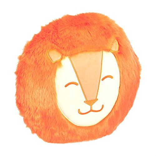 Amazon Basics - Cojín decorativo, cara de león, diámetro de 41cm
