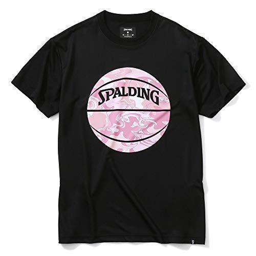 SPALDING(スポルディング) バスケットボール Tシャツ ウォーターマーブルボール SMT200200 ブラック/ピンク Lサイズ バスケ バスケット
