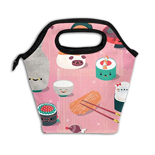 Lao Yang Mai Chopsticks White Best Cute Sushi Japanese Anime School Lunch Containers Bag Pail Pack Accessories Tote Ice Cooler Insulated Reusable Box Hot Food Bento Warmer Prep Set Kit Decorations