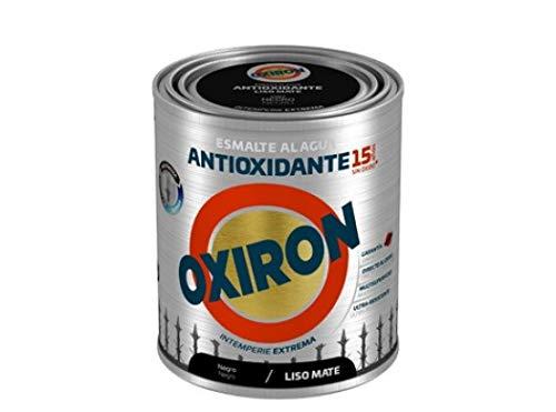 Esmalte antioxidante Titan Oxiron al agua Liso Mate - 750 mL, 4567 Negro