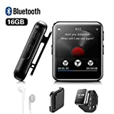Lettore MP3 BENJIE 16GB Bluetooth 1.5'Sport Lettore MP3 Full HiFi Screen Lossless Sound, Radio FM,...