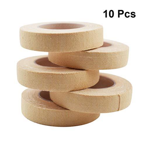 Exceart 10 Stück Baumwolle Guzheng Finger Klebeband Pipa Holz Laute Finger Picks Finger Tape für Chinesische Guzheng Finger Picks Handschutz (Hautfarbe)