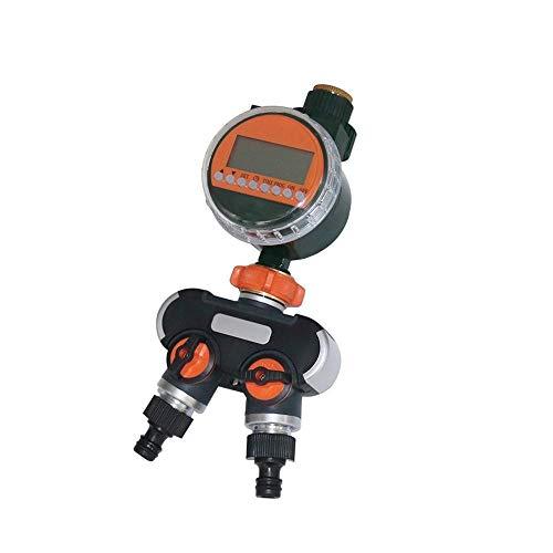 Zeitgesteuerte Bewässerung Elektronische LED-Display-Regen-Sensor Automatische Wasser-Timer Garten Rasen Bewässerung Bewässerungssteuerung 2-Wege 4-Wege-Hose Splitters ( Color : Timer 2way splitter )