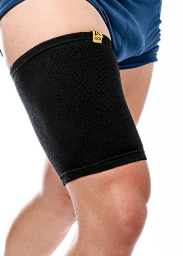 AGON Thigh Compression Sleeve Brace Support Compression Recovery Thighs Wrap Pain Relief for Sore Hamstring Groin Quad Sweat Men & Women Hip Injury Thigh Compressions Trimmer Active Sports (Large)