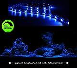 Creative Lights Aquarium Mondlicht, LED LICHTLEISTE 90 cm + DIMMER Komplettset Flexi-Slim BLAU