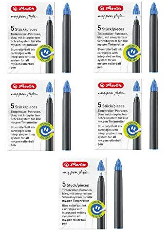 Herlitz 11378999 Tintenroller-Patronen my.pen, 5 Stück, blau (5er Pack, patronen my.pen)