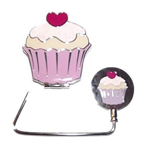Ex-Store Mignon Cupcake Compact & Miroir Assorti Main Crochet Ensemble Cadeau