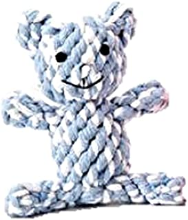 Because of Paws Braided Rope Chew Toys - Durable, Fun, Colorful Shapes - for Small Dogs Only (Teddy Bear)