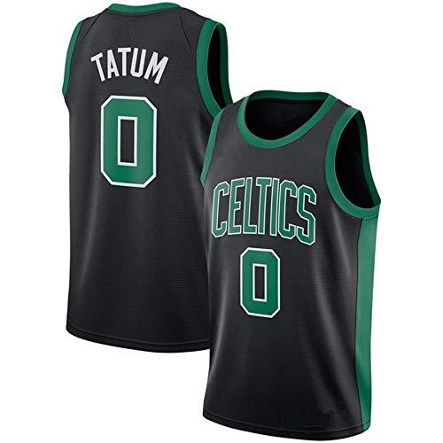 ZeYuKeJi Hombres Camiseta de la NBA Celtics Nueva Jersey # 0 Tatum Malla de Baloncesto Retro de edición Conmemorativa de Baloncesto Camiseta sin Mangas (Color : Black, Size : M)