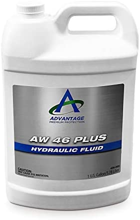 Advantage Premium AW 46 Plus Hydraulic Fluid Anti-Wear Oil for use in Piston, Gear Pumps in Industrial and Mobile System, 1 GAL