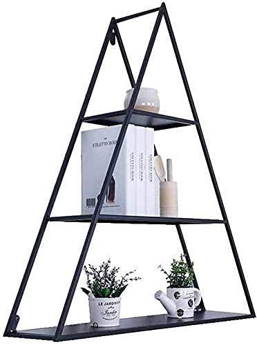 wsbdking Modern Simplicity Plant Stand States Estantes montados en la Pared Soporte para jardinería Colgando Metal Almacenamiento Decoración de la exhibición Estantería Sala de Estar Trazueble Planta