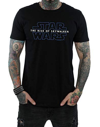 Star Wars Hombre The Rise of Skywalker Logo Camiseta Negro XX-Large