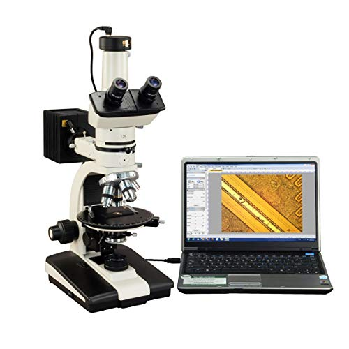 OMAX 50X-787.5X Trinocular Ore Petrographic Polarizing Microscope with Bertrand Lens and 10MP Camera