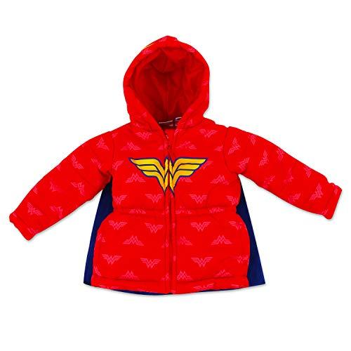 Dreamwave Toddler Girl Wonder Woman Puffer Jacket 3T
