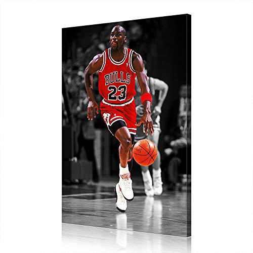 NBA Chicago Bulls di Michael Jordan Canvas Prints Poster Cesto Opera Home Decor (60x90cm,Prints-25)