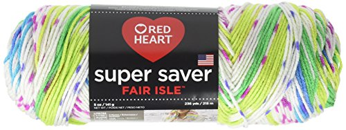 Red Heart Super Saver Yarn, Parrot Garn, Fair Isle Papagei