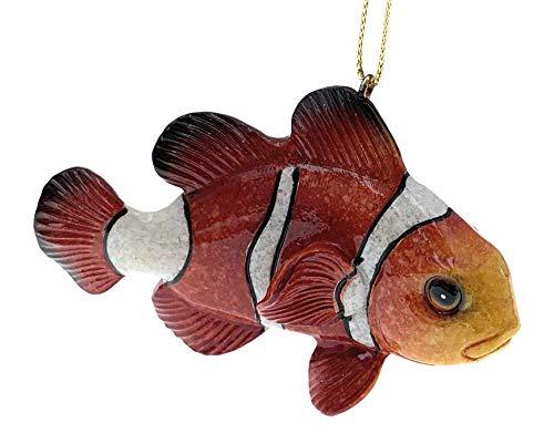 Globe Imports Clown Fish Christmas Ornament, 3.75 Inches Long