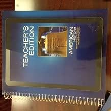 American History Beginnings Through Reconstruction, Teacher's Edition, 2016