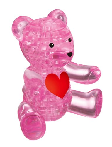 Crystal pink teddy bear puzzle (japan import)
