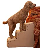Pet Gear Easy Step III Extra Wide Pet Stairs, 3-step/for cats and dogs up to 200-pounds, Tan