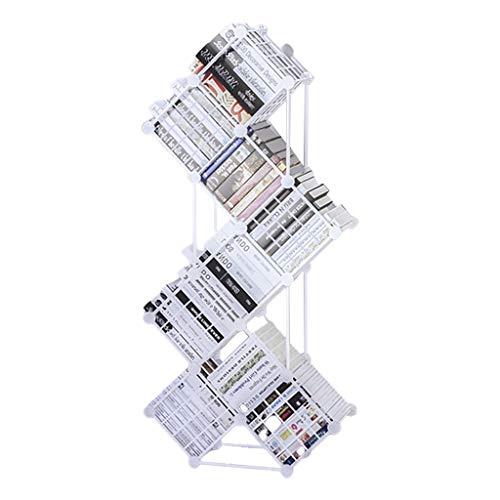 Sala De Estar Combinación Creativa Nórdica Estantería De Hierro En Forma De Árbol Estantería De Piso De Rejilla Estantería Estantería De Almacenamiento De Libros Estantería De Piso (Desmontable)