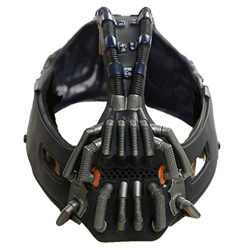 Bane Maske The Dark Knight Rises Cosplay Kostüm Zubehör Gun Metal Color Version für Herren Kleidung Merchandise (New Version)