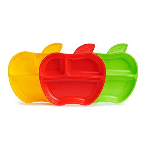 Munchkin Tellerchen in Apfelform, 3er-Pack, mehrfarbig