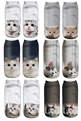 Meiping Damen Niedlich Karikatur Tiere Charakter Socken Lustige Verrückte Motiv Witzig Socken Damen