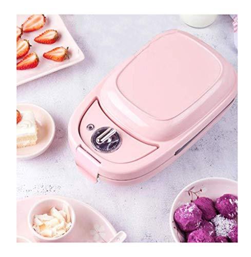 Frühstück Maschine, Mini Haushalt Multi-Funktions-Toaster Waffeleisen, Picknick-Reise, Rosa kshu (Color : Pink)