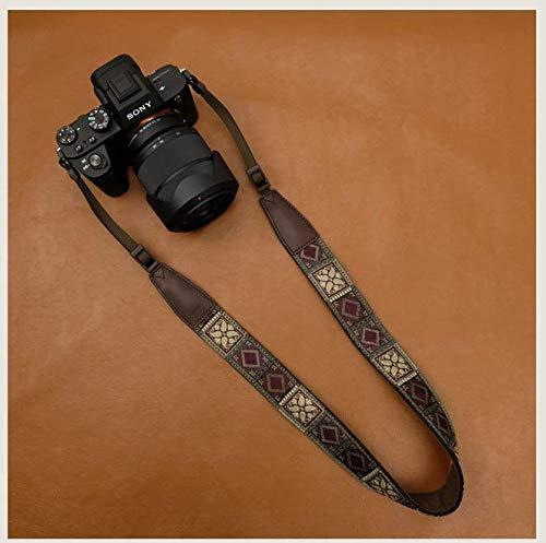 Digitale SLR-Kamera Retro Schultergurt - Gestickte Weinlese Mehrfarben Neckband Universal-SLR-Kamera-Gurt Für Canon, Nikon, Sony, Pentax, Fujifilm Und Digitalkameras,B