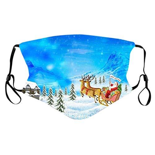 NN/A Weihnachten Mund und Nasenschutz mit Motiv Weihnachts Erwachsene Waschbar und Wiederverwendbar Mundschutz Unisex Multifunktionstuch