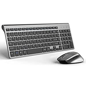 Wireless Mouse,2.4G Computer Mouse Optical Noiseless Cordless Mice with USB Receiver
