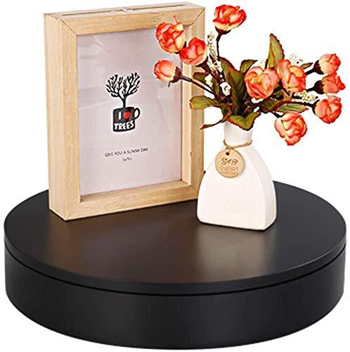BAOSHISHAN Elektrischer Drehteller Für Produktanzeig mit Fernbedienung 20kg 20cm 360-Grad-Drehtisch Produktanzeige für Live-Video Fotografie Schmuck Display (20KG 20CM Schwarz)