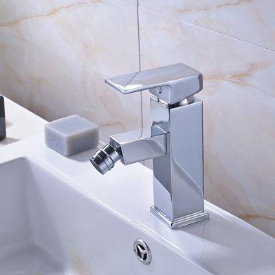 Retro Deluxe Fauceting Best Design wastafel armatuur chroom gepolijst enkele greep enkele opening met hete koude kranen, chroom 1