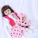 ZIYIUI 48cm Reborn Baby Dolls Poupées Reborn Fille Cheveux Longs Doux Vinyle Silicone Poupons Jouet Cadeau