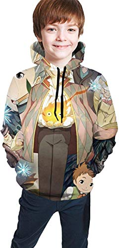 EYSKJ Hoodie Capucha Howl's Moving Castle Kids Hooded Pocket Sweatshirt Teens Fashion Sudadera