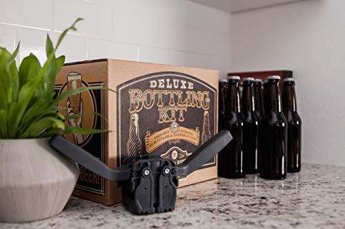 Product Image 4: Deluxe Bottling Kit – Craft a Brew Homebrew Bottler Equipment – Home Brewing Easy Bottling Set – 10 Empty 12oz. Amber Glass Bottles – 30+ Caps – 1 Capper