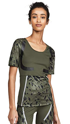 Adidas by Stella McCartney - Camiseta para mujer - Verde - XX-Small