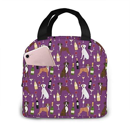 Boxer Dog - Bolsa de picnic con aislamiento para hombre, mujer, ideal para el trabajo, la escuela