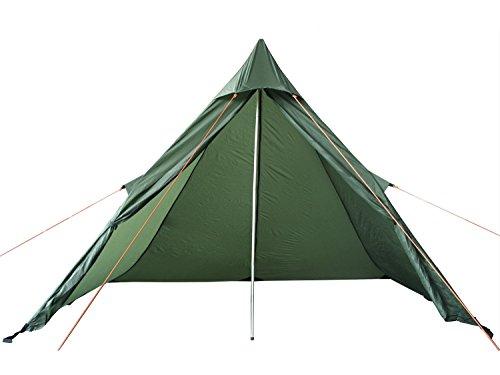 Fibega Ultraleicht Zelt aus Silnylon, mit Zubehör, für 1-2 Personen, Olive