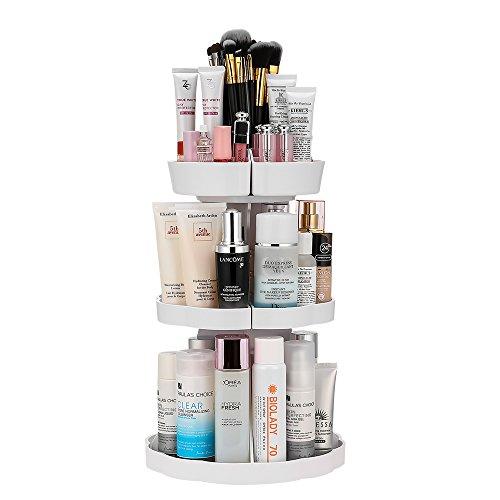 『Jerrybox コスメ収納 メイクボックス 回転 化粧品収納 コスメボックス (タワー, ホワイト)』のトップ画像