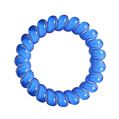 Chouchou Marron 4er set câbles téléphoniques en plastique-spirale élastique